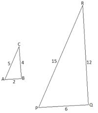 2 подобных треугольника с заданными сторонами