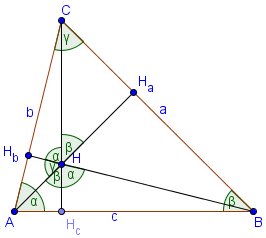 altitudes of an acute triangle