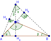 altitudes of an obtuse triangle