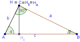 altitudes of a right triangle