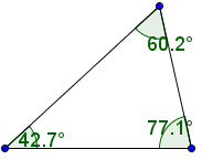Choose the type of given triangle: