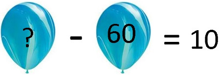 What is the value of the first balloon so that the result is 10?
