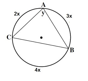 What is the value of angle y?