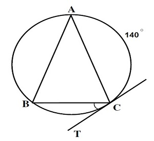 If [tex] AB=AC [/tex], then what is the value of [tex]\angle BCT[/tex]?
