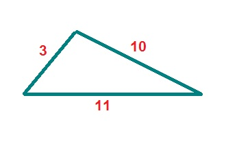 What is the perimeter of the triangle shown below?