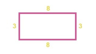 What is the perimeter of the rectangle shown below?