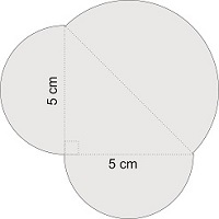 Calculate the surface of the object from the picture. Consider that [tex]\pi=3.14[/tex]